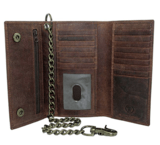 Juzar Tapal Collection Men's Crazy Horse Checkbook Trifold Wallet