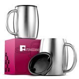 FINEDINE Double Wall 18/8 Stainless Steel Coffee Mug