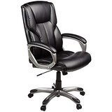 Amazon Basics High-Back Leather Executive Chair