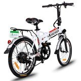 Ancheer 18.7'' Foldable Adjustable Electric Mountain Bike