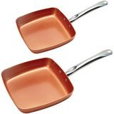 Copper Chef 2-Pack Square Frypans