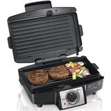 Hamilton Beach Electric Indoor Grill with Non Stick Removable Plates
