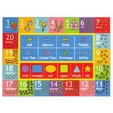 KC CUBS Educational Learning Area Rug