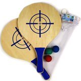Matty's Toy Stop Deluxe Wooden Paddle Ball Game Set