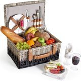 VonShef Deluxe 2-Person Traditional Wicker Picnic Basket Hamper